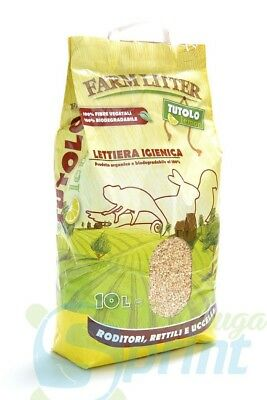 FARM LITTER TUTOLO LEMON 10 LITRI tutolina al limone lettiera 100% vegetale