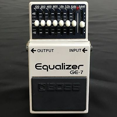 BOSS GE-7 Equalizer Used Guitar Effects Pedal Made in Japan