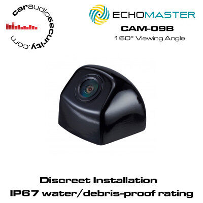 Echomaster CAM-09B Post Mount Backup Camera In Black