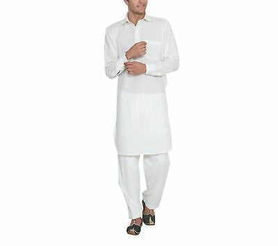 Indian Cotton White Kurta Pajama Ethnic Men'S Designer Traditional Wear Pajama