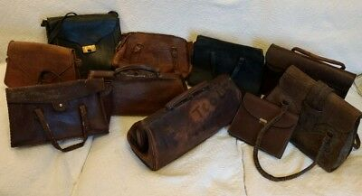 Job Lot of 10 Vintage Leather Bags