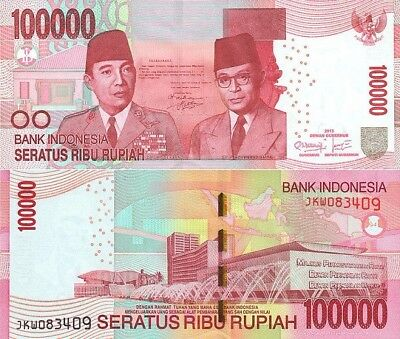 Cheapest On Ebay Indonesian Rupiah 100,000 Bank Note Idr Circulated Indonesia