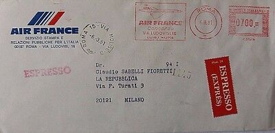 Italy 1981 Air France Concorde Meter Mark Express Mail Cover
