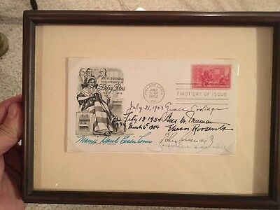Auutographs President First Lady Postal Cover Signed John Kennedy, Jacqueline