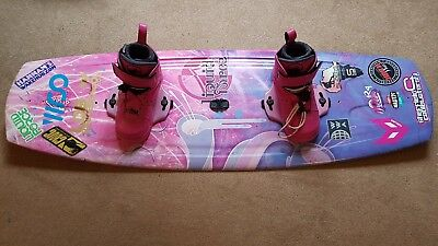 Liquid Force Dream124 girls kids wakeboard with Melissa bindings size 1-3
