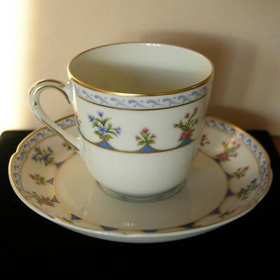 Bernardaud Limoges Chateaubriand Footed Cup & Saucer