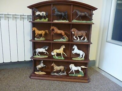 Franklin Mint The Great Horses of the World Collection with Shelving