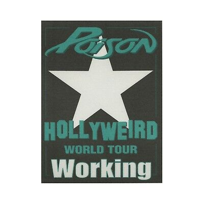 Poison authentic 2002 Hollyweird tour Satin Backstage Pass crew green