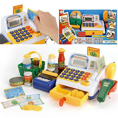 Toyrific Cash Register Kids Educational Toy Shopper Play Food Pretend Play