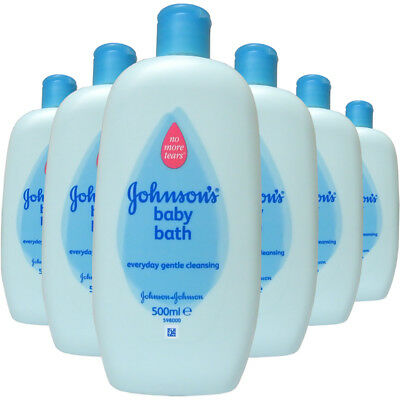 6x Johnsons Baby Bath Liquid 500ml