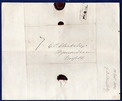 Norfolk - 1832 (18 Nov) EL  With boxed Cromer Penny Post (NK74), Rated 'E', Post