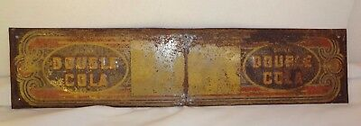 RARE Vintage 1920's ORIGINAL Drink Double Cola Embossed Sign Door Push Not Coke