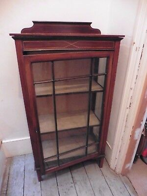 Antique Mahogany Glass Front Small Display Cabinet