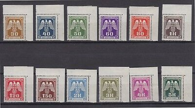 CZECHOSLOVAKIA STAMPS-Occupation Official stamps, set, 1943  (**)