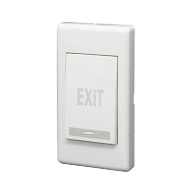 Exit Push Release Button Panel for Electric Door Strike White S4T5