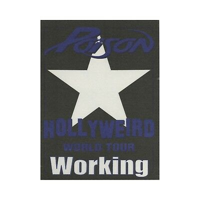Poison authentic 2002 Hollyweird tour Satin cloth Backstage Pass crew