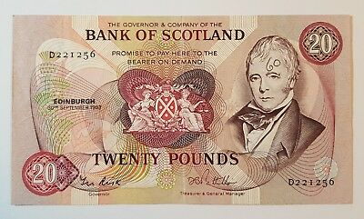 Bank of Scotland £20 Banknote - D221256 30 September 1983 SC145e VF