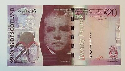 Bank of Scotland £20 Banknote - AA 066406 17 September 2007 - SC148a Aunc