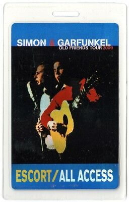 Simon & Garfunkel authentic 2009 Laminated Backstage Pass Old Friends Tour AA