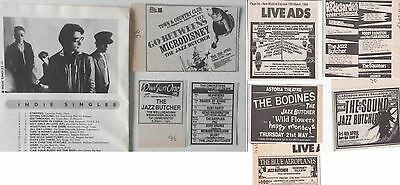 THE JAZZ BUTCHER : CUTTINGS COLLECTION -adverts-
