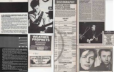 THE WEATHER PROPHETS : CUTTINGS COLLECTION -adverts-