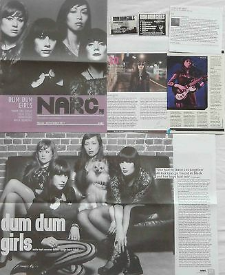 DUM DUM GIRLS : CUTTINGS COLLECTION -interview adverts-