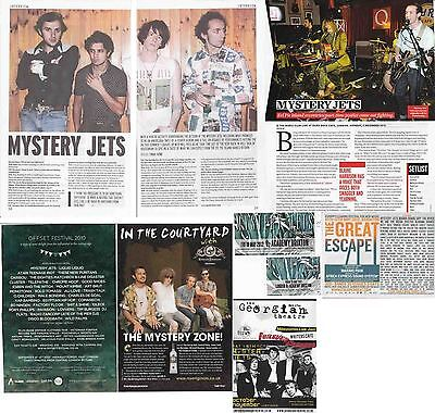 MYSTERY JETS : CUTTINGS COLLECTION -interviews adverts-