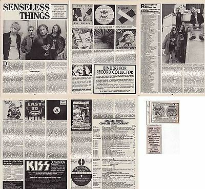 SENSELESS THINGS : CUTTINGS COLLECTION -interview adverts-