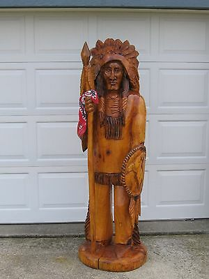 Carved / Chainsaw Native American Sculpture