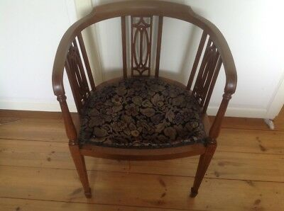 edwardian tub chair, needs re-upholstering