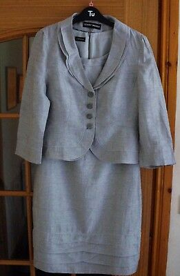 Gerry Weber, Ladies Dress and Jacket, Silver Grey size 10