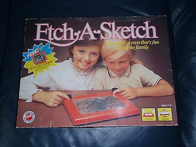 "1983 Peter Pan ""Etch-A-Sketch"" Magic Drawing Screen.  ( Retro Gift / Present )"