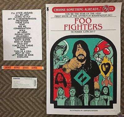AUTHENTIC! Foo Fighters Poster BUNDLE! The Anthem D.C. Grand Opening SOLD OUT!