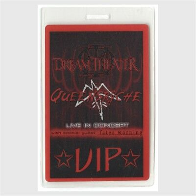 Dream Theater authentic 2003 Laminated Backstage Pass Queensryche Fates Warning