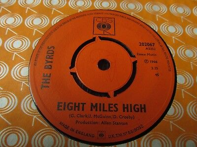 The Byrds- Eight Miles High/ Why Classic Psych Two-sider RARE UK COPY