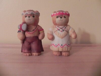 Vintage ~ Enesco ~1984  Indian Bear's  Lucy & Me ~ Lucy Rigg ~ Thanksgiving