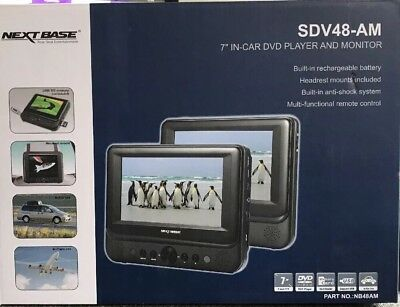 """NextBase SDV48-AM 7"""" In-Car / Flight DVD Player and Monitor"""