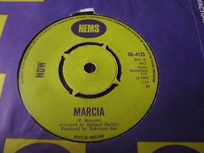 Now- Marcia/ The Hands on my Clock Stand Still PICCADILLY SUNSHINE