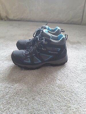 Ladies Karrimor Walking Boots size 5.5 blue and grey leather. New condition
