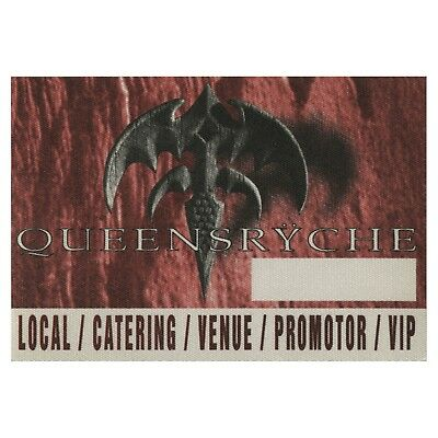 Queensryche authentic 1994 Promised Land Tour satin Backstage Pass VIP red