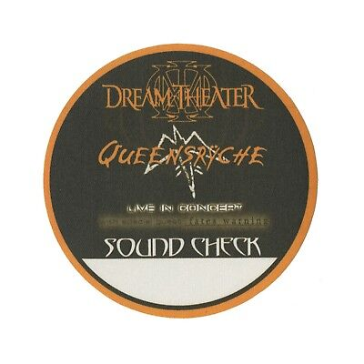 Queensryche authentic 2003 Tribe Tour Dream Theater Backstage Pass sound check