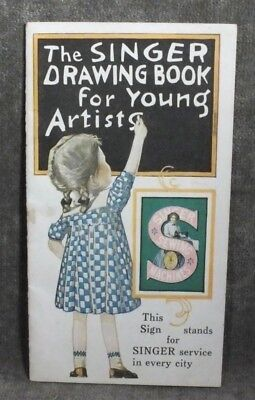 VTG Ephemera Singer Sewing Drawing Book for Young Artists Booklet Z19