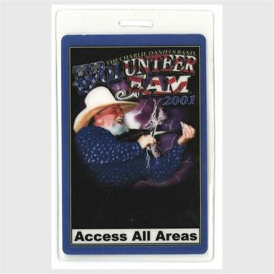 Charlie Daniels Band authentic 2001 concert Laminated Backstage Pass Volunteer