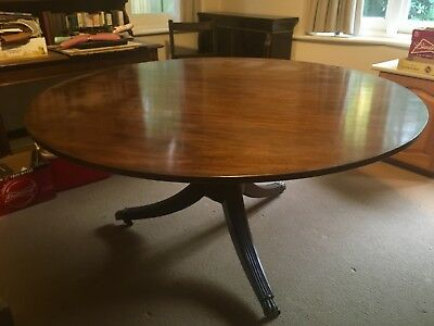 George III Mahogany Circular Dining Table Associated Top & Bottom Circa 1800