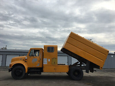 2002 International 4700 Chipper Dump Forestry Tree Truck T444E Diesel 11' PTO