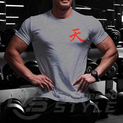 Fighter Cotton T-shirt GYM WOD Functional Training Sport Workout Strength Tshirt