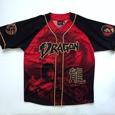 Very Rare Bruce Lee Jersey Shirt Men's Size XL AUTHENTIC EMBROIDERY! G3