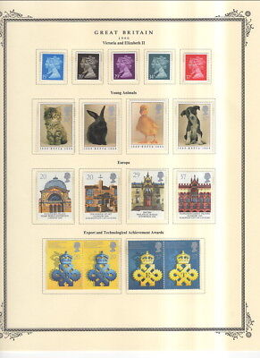 Modern Mnh Great Britain On Scott Specialty Album Pages 1990 To 1991!