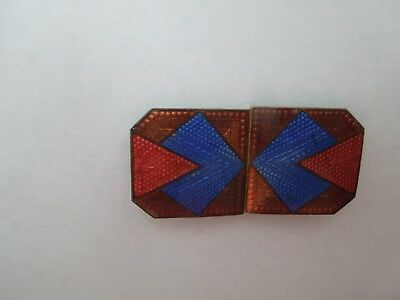 VINTAGE  ART DECO ENAMEL   BUCKLE  No. 3