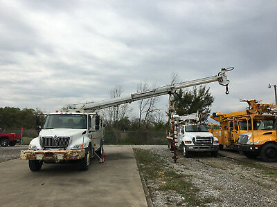 2003 International 4400 Altec 45' Digger Derrick Boom Utility Truck Diesel